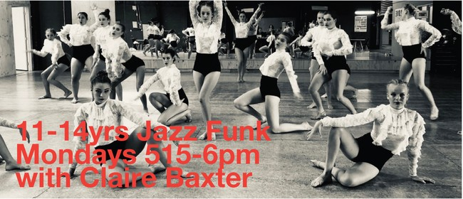 Monday Jazz Funk 11-14 years with Claire Baxter