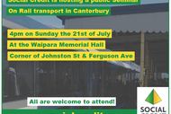 Canterbury Commuter Rail Seminar Hosted by Social Credit