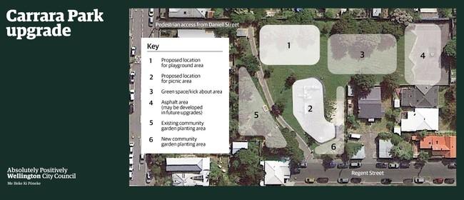 Carrara Park play area upgrade: Community Drop-in Session