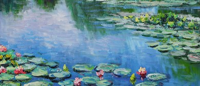 Wine and Paint Party - Monet Waterlilies Painting