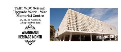 Talk: WDC Seismic Upgrade Work - War Memorial Centre