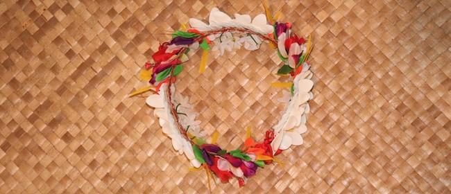 Floral Headwear, Tuvalu Fou Making - Hutt Winter Festival