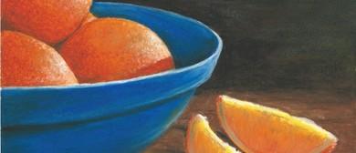 Bowl of Oranges in Oil Pastel Workshop