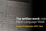 The written word: celebrating Māori Language Week
