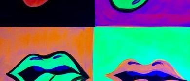 Glow In The Dark Paint Night - Rolling Stones - Paintvine