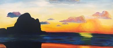 Paint and Wine Night - Piha Sunset - Paintvine