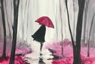 Image for event: Paint & Chill Night - Walking in the Rain