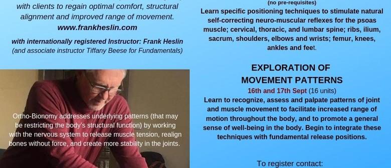 Ortho-Bionomy:Exploration of Movement Patterns