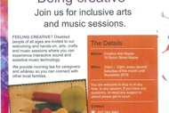 Being Creative; Interactive Music and Art Sessions