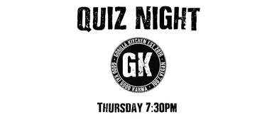 Gorilla Kitchen Quiz Night – Thursdays