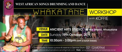 West African Songs, Drumming and Dance Workshop in Whakatane