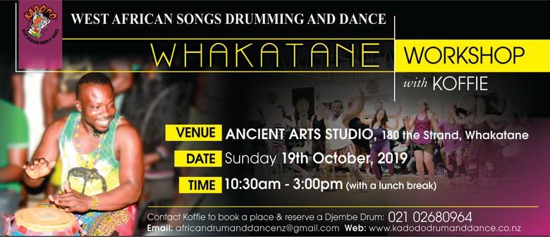 West African Songs, Drumming and Dance Workshop in Whakatane