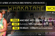 Image for event: West African Songs, Drumming and Dance Workshop in Whakatane