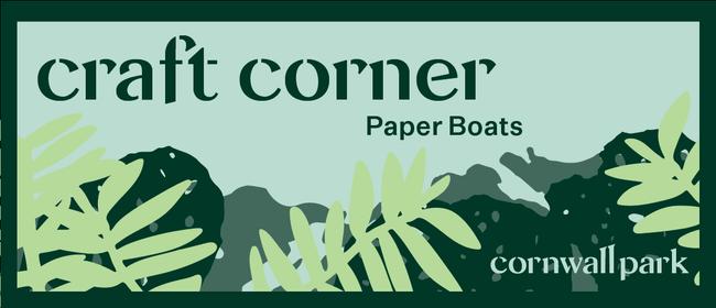 Craft Corner: Paper Boats