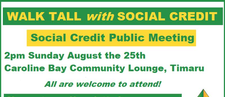 Social Credit Public Meeting