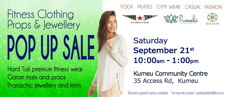 genuine select for newest variety of designs and colors Kumeu Women's Fitnesswear, Props and Jewellery Pop Up Sale ...