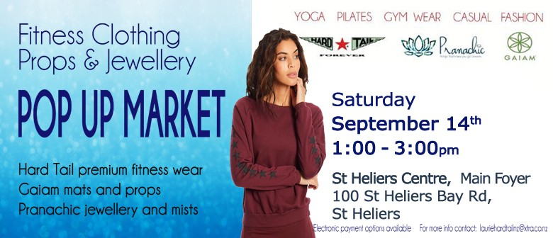 St Heliers Women's Fitnesswear and Jewellery Pop Up Market