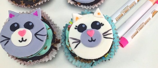 Cat Cupcake Class for Kids and Adults