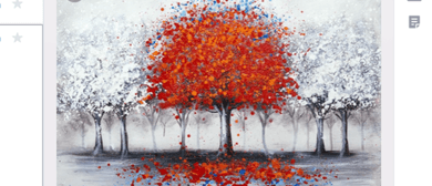 Paint 'Red Tree In Winter'