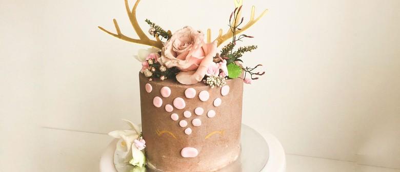 Deer Cake Class With Fresh Flowers - vegan too!