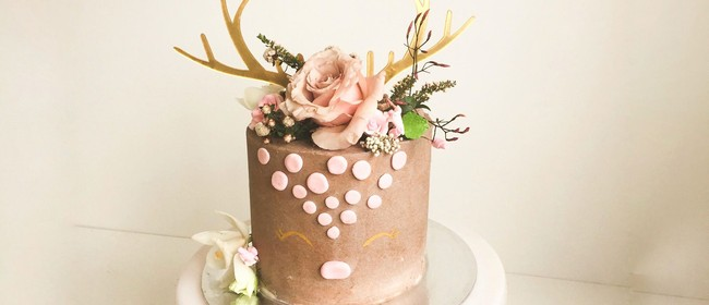 Deer Cake Class With Fresh Flowers - vegan too!