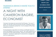 Image for event: Registered Master Builders - A Night with Cameron Bagrie