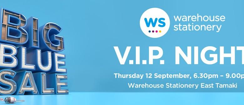 Warehouse Stationery Big Blue Sale VIP Night
