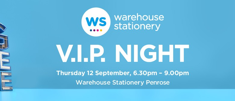 Warehouse Stationery Big Blue Sale VIP Night