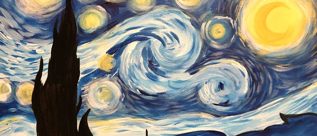 Paint and Wine Night – A Starry Night – Paintvine