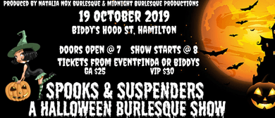 Spooks & Suspenders A Halloween Burlesque Show