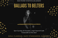 Image for event: Ballads to Belters