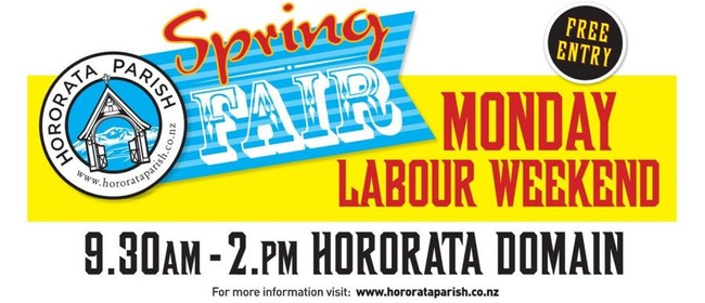 Hororata Parish Spring Fair