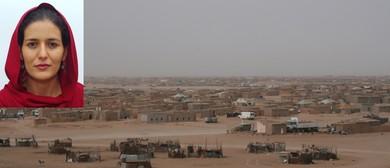 Tecber Ahmed Saleh of Western Sahara speaks in Kirikiriroa