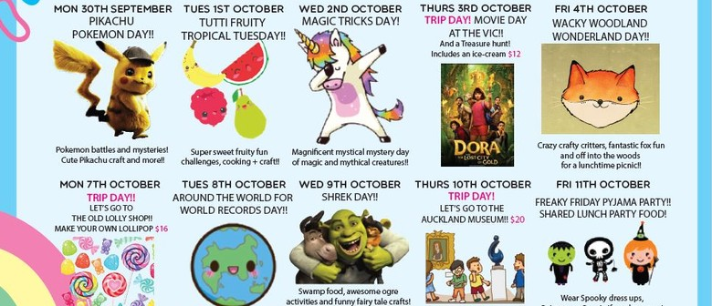 October 2019 School Holiday Programme