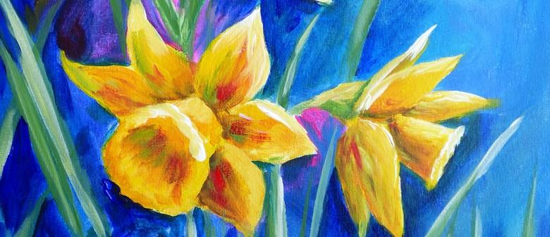 Paint and Wine Night - Daffodils - Paintvine