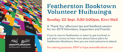 Featherston Booktown Volunteer Huihuinga Thank You Party