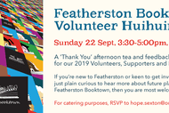 Image for event: Featherston Booktown Volunteer Huihuinga Thank You Party