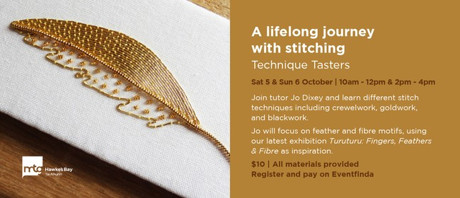 A Lifelong journey with stitching - Technique Tasters