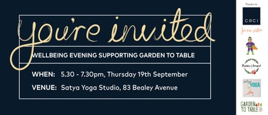 Wellbeing Evening supporting Garden to Table