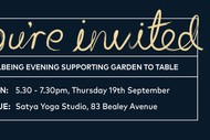 Image for event: Wellbeing Evening supporting Garden to Table