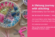 Embroidery fun for kids with tutor Ngaio Blackwood