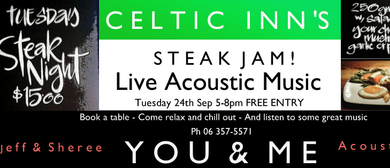 Celtic Inn's Steak Jam Night ft You & Me