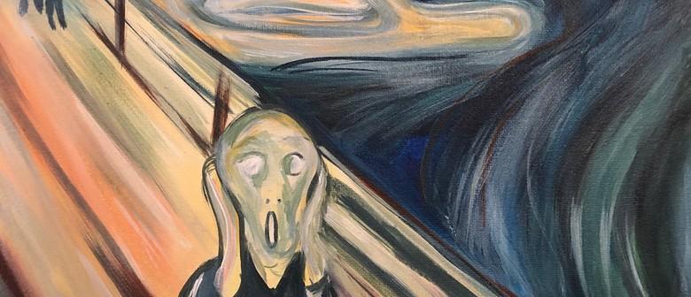 Paint and Wine Night – The Scream – Paintvine