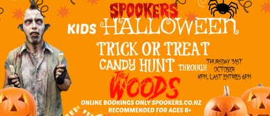 Kids Halloween Trick Candy Treat Hunt through 'The Woods'