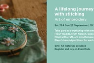 Floral Embroidery Workshop with tutor Fleur Woods: SOLD OUT