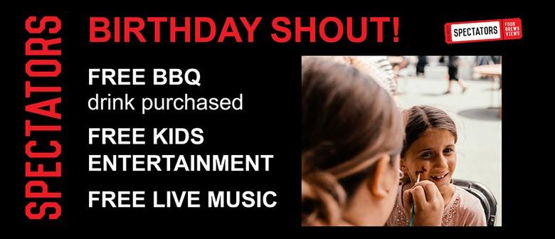 Spectators Birthday Shout