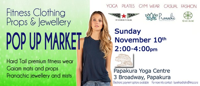 Women's Fitnesswear and Jewellery Popup Market