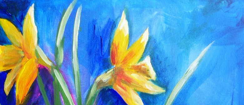 Paint and Wine Night - Daffodils - Paintvine