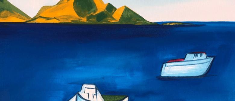 Paint and Wine Night - Rita Angus' Boats - Paintvine