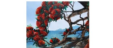 Wine and Paint Party - Pohutukawa Tree Painting